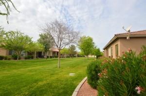 Sun Lakes villas on greenbelt