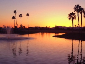 Sunset at Sun Lakes AZ