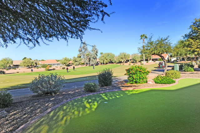 Golf course lot homes in Sun Lakes Oakwood