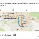 Map Sun Lakes to Sky Harbor