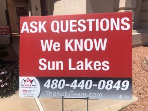 Selling homes in Sun Lakes Az is easy with the Kolb team.
