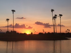 Sun Lakes Arizona real estate - sunset