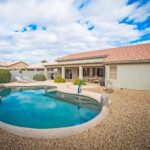 Beautiful pool in backyard at 9221 E Emerald Dr Oakwood, Sun Lakes
