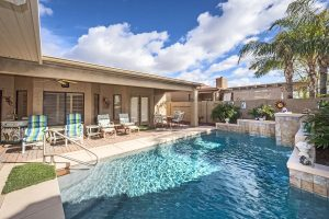 10105 E Elmwood Dr Sun Lakes AZ has its own backyard oasis.