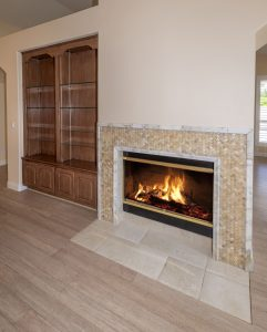 Sit by the fire at 25418 S Spring Creek Rd.