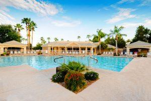 Enjoying the community pool at 23833 S Pleasant Way Dr Sun Lakes AZ.