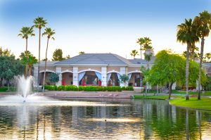 Active adult communities in Phoenix AZ have gorgeous clubhouses.