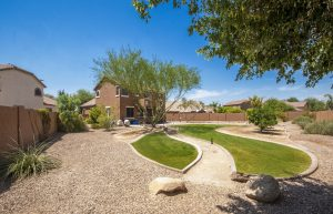 Enjoy the huge back yard at 4392 S Coachhouse Court.