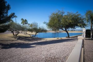 Enjoy the water and mountain views at 8901 E Stoney Vista Dr.