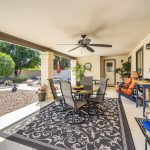 Enjoy the beautifully maintained backyard at 10309 E Silvertree court.