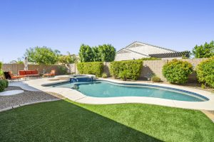 Enjoy this back yard oasis at 264 E Mead Dr.