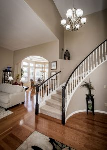 Don't overlook a two story home when considering guest space.
