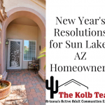 Here are some New Year's resolutions for Sun Lakes AZ homeowners.