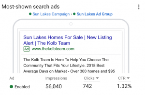 Find your Sun Lakes realtor who ranks on google.