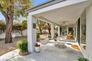 You will love the back patio of this charming well maintained home.