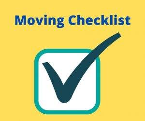 Moving/ Who needs to know? Use a checklist.