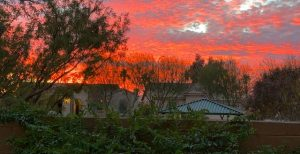 Enjoy gorgeous sunsets at 3911 E August Ave.
