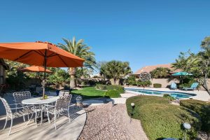 Under contract 1 day with a backyard oasis