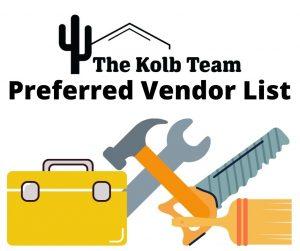 Spring home maintenance checklist with our preferred Vendor list.