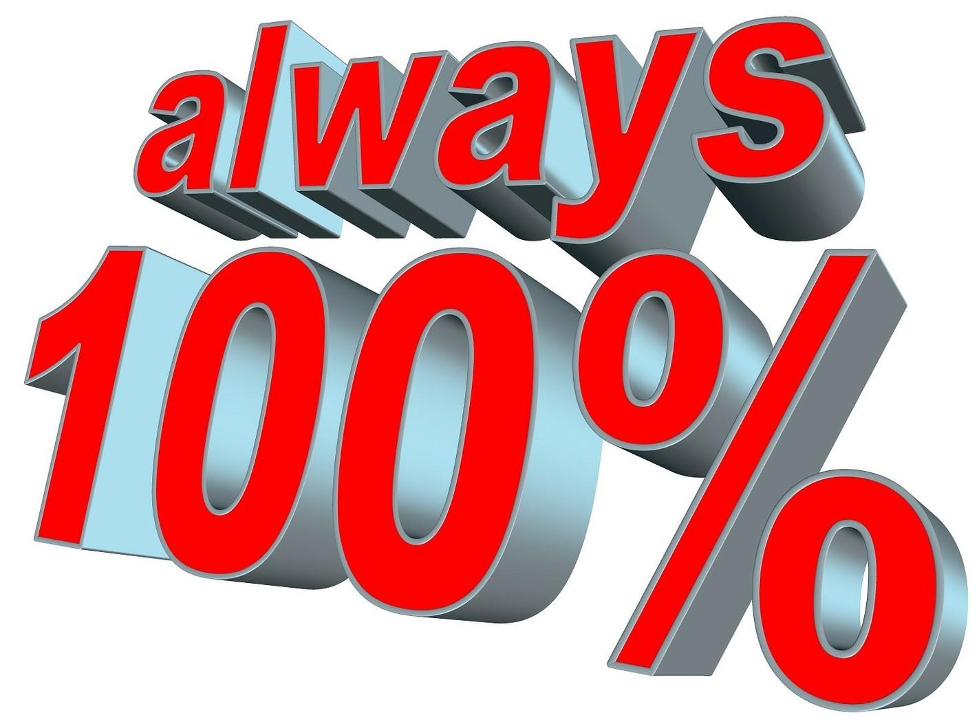 Always 100%