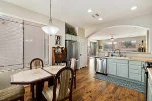 Adorable home in Oakwood with an eat in kitchen.