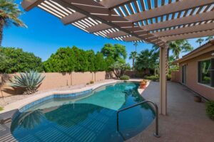 Enjoy the sparkling pool at 26426 S Beech Creek Dr.